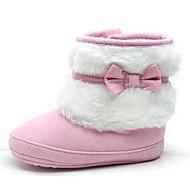 Rosa / Khaki - Baby Sko - Hverdag - Fleece - Støvler