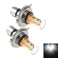2Pcs H4 8W  8x Samsung 2323 SMD 900lm 6000k White Light LED For Car Brake / Signal Steering / Fog Light Lamp (DC10~30V)