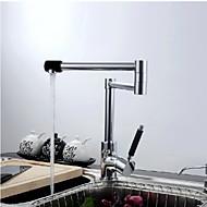 Moderne Chrom-Finish Ein Loch Einhand-Küchenarmatur