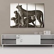 sträckt kanfas konst leopard dekorativt måleri uppsättning av 4