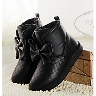 Girls' Shoes Round Toe  Flat Heel  Ankle  Boots with Zipper More Colors available