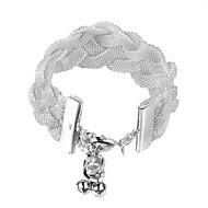 Frauen Sterling Silber Schmuck Geflecht 925 Silber Armbandarmbänder Modeschmuck pulseiras femininas Armbänder für Frauen