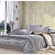4-Piece Silk  mixed colors  Hotel Supplies Duvet Cover Set