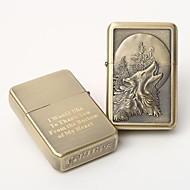 שמן אישית לחרוט זהב מתכת קל - זאב