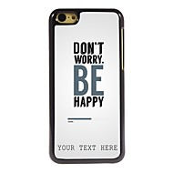 gepersonaliseerde telefoon case - maak je geen zorgen ontwerp metalen behuizing voor de iPhone 5c