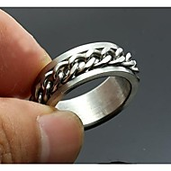 personlig gave mænds ring rustfrit stål indgraveret smykker