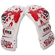 adulte cuir PU demi doigt gants de boxe