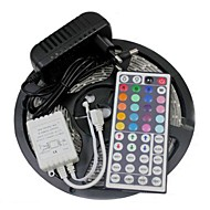 5M 300X3528 SMD RGB LED Strip Light and 44Key Remote Controller and 3A EU Power Supply (AC110-240V)