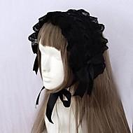 Black Ribbon and Lace Trim Gothic Lolita Headband