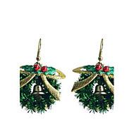 lureme divat sütés lakk bowknot karácsonyi gyűrűt ötvözet csepp fülbevaló