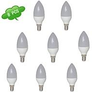 E14 7 W 15 SMD 2835 560 LM Warm White C Candle Bulbs AC 85-265 V