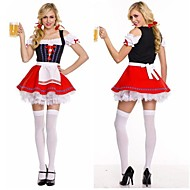 German Oktoberfest Short Sleeves Cotton & Lace Maid Uniforms