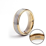 Personalized Gift Ring Stainless Steel Engraved Jewelry