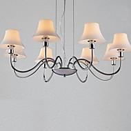 lustres de 8 luzes de vidro metal cromado galvanizados simples 220v moda moderna