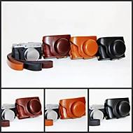 pajiatu retro pu læder kamera beskyttende sag taske cover med skulderrem til Fujifilm x30 digitalkamera