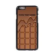 персонализированные телефон случае - шоколад дизайн корпуса металл для Iphone 6