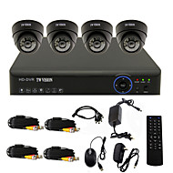 TWVISION® 4CH Channel 960H HDMI CCTV DVR  4x Indoor 800TVL Security Camera System