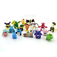 pokemon 24st 2-3cm mini pvc actionfigur set (slumpmässiga färger)