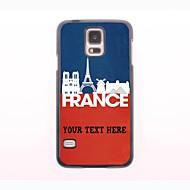 gepersonaliseerde telefoon case - frans landschap ontwerp metalen behuizing voor Samsung Galaxy S5 mini