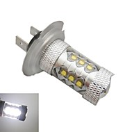 H7 크리 80w 6500K -7000k 흰색 빛 자동차 전구 주도 ledx16 (12-24V를, 1 개)