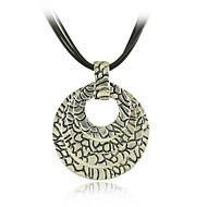Fashion  Metal with Antique Silver Plated Multi Circle Pendants Necklace