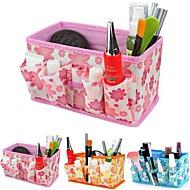 skládací květinový vzor kosmetika úložný box stand up kartáč hrnec kosmetické organizátor