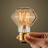 40W Retro Industry Style Incandescent Bulb, Diamond Shape