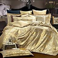 4 Piece Cotton Royal Style Jacquard Duvet Cover Set