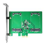 Maiwo KCSSD2 2 x 1.8 -inch mSATA PCI-E SSD mSATA to PCI-e Card