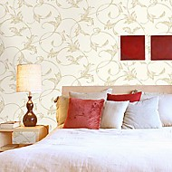 Wall Paper Wallcovering,  European Style High Foaming Vine Flowers Non-woven Wall Paper