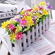 분기 폴리에스터 / 플라스틱 데이지 꽃 테이블  플라워 인공 꽃 30 x 14 x 8 (11.8'' x 6'' x 3.1'')