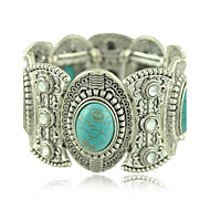 Women's Round Bangles Bracelet Alloy Turquoise