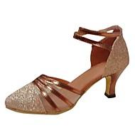 סנדלי נשים לטיניות פגיון נעלי ריקוד אבזם paillette העקב (צבעים נוספים)