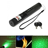 LT-G303  Adjustable Focus Green Laser Pointer(4MW. 532nm. 1*18650.Black)