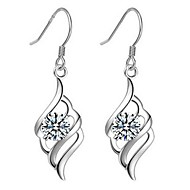 Drop Earrings Women's Silver Earring Cubic Zirconia