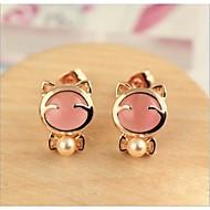 Stud Earrings Kid's/Women's Alloy Earring Opal/Imitation Pearl