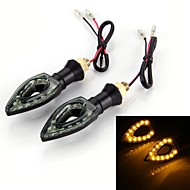 2pcs Motorcycle Motorbike Turn Signal Bulb Indicator Amber 12 SMD LED Light 12V 1W