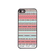 gepersonaliseerde telefoon case - roze ruitmotief metalen behuizing voor de iPhone 5 / 5s