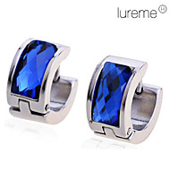 Lureme®Men's Titanium Steel Blue Diamond Earrings \\\\\\\\\\ Jewelry