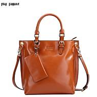 MYFUTURE ® Europe and USA woman leather handbag shoulder bag diagonal 9052