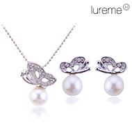 lureme ženske kristalima leptira biserne ogrlice naušnice postaviti