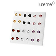 Earring Stud Earrings Jewelry Women Party / Daily Alloy Gold / Black / White / Red / Purple / Pink