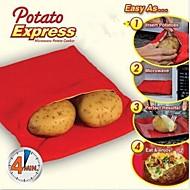 Nová vysoce kvalitní praktický velmi jednoduché červené brambory omyvatelný MV pytel parní kapsa péct brambory za 4 minuty