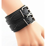 Men's Fashion Leisure Wide Leather Bracelet