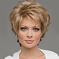 χωρίς καπάκι χρώματος μιγμάτων επιπλέον σύντομο υψηλής ποιότητας φυσικά σγουρά μαλλιά συνθετική περούκα με πλευρά κτύπημα