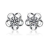 925 Sterling Silver Earring Sterling Silver Stud Earrings Six Claw Girls Harley Cute Fashion Earring