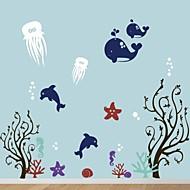 Wall Stickers Wall Decals, Cartoon Sea World PVC Wall Stickers.