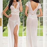 Slim Girl Slender Waist White Satin Women's Lingerie Sexy Uniform