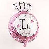 bryllupet innredning diamantring metallic ballong - jeg gjør (mer farge)