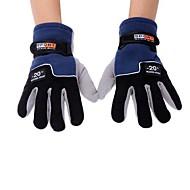 pleine molletonnés doigt extérieur hiver thermique des gants de ski vélo ski de randonnée coupe-vent hommes réglables